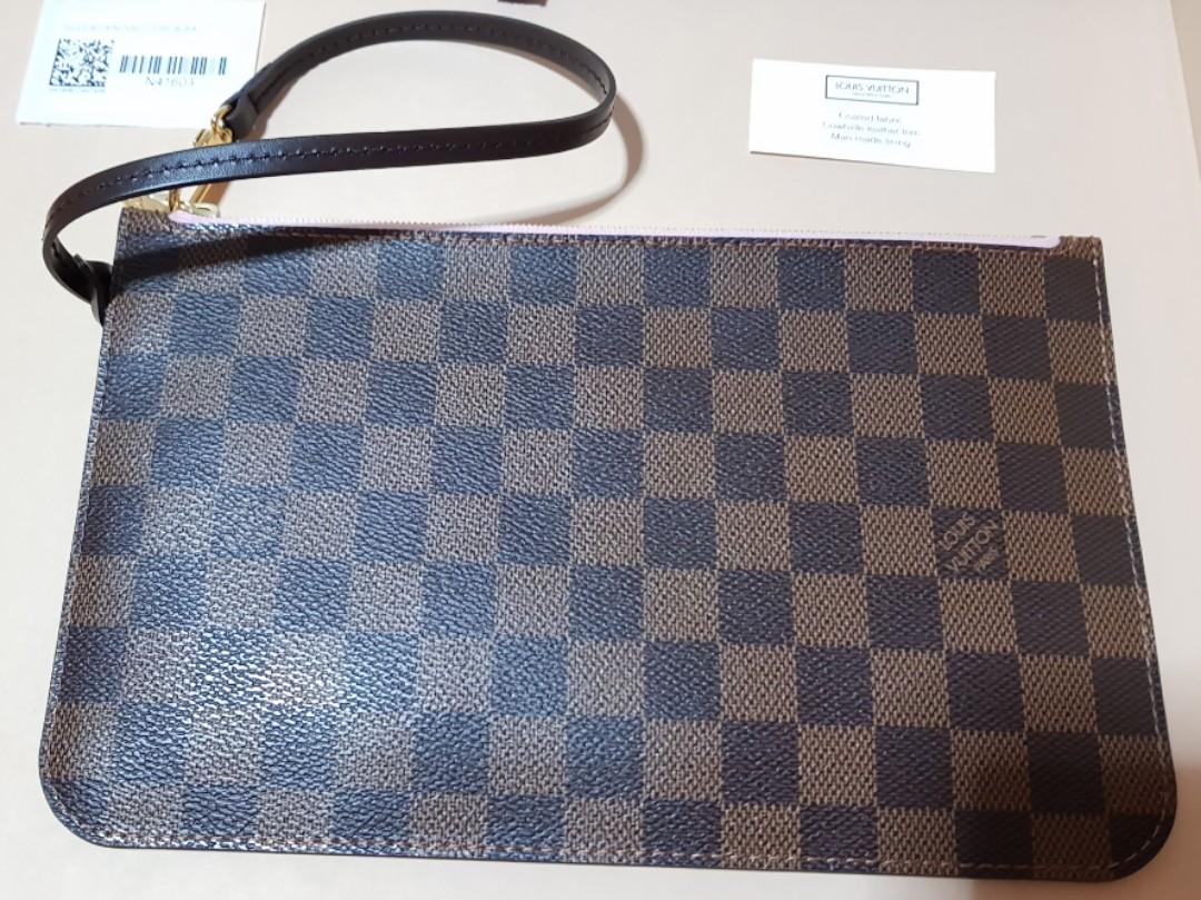 17206432295f 100% Authentic Louis Vuitton Neverfull Pochette Wristlet Clutch in ...