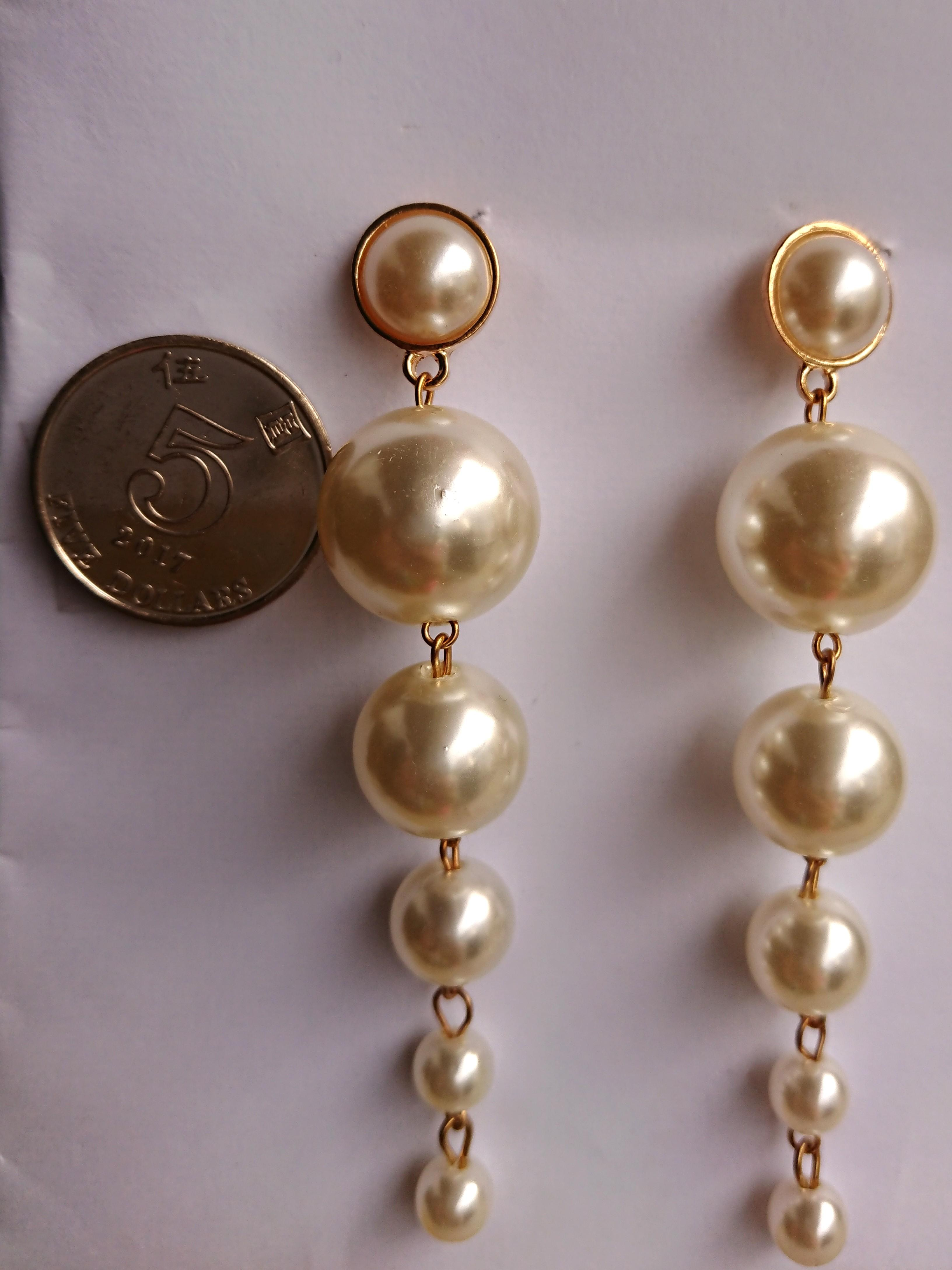 <100% NEW> Pearl earring 珍珠耳環