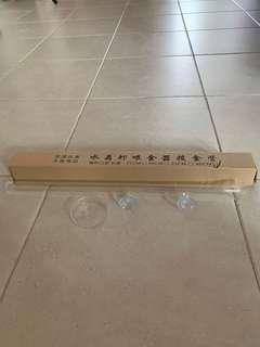 Shrimp tank feeding tube and tray