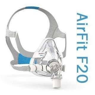 🚚 Resmed Airfit F20 Cpap full face mask (Size L)