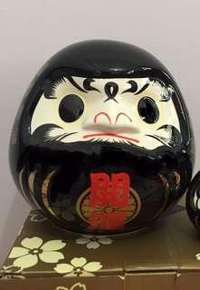 Ceramic Daruma M size Black Coin Bank陶瓷达摩扑满