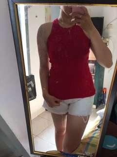 Helter Neck Red / Baju CNY merah