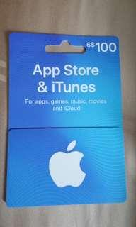 New $100 iTunes Card - Selling for $90 - Please do not lowball!