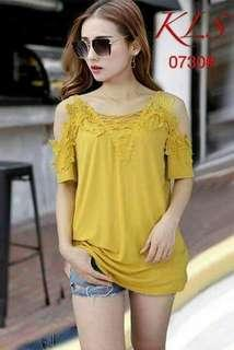 Yellow Top Small to Semi-Large Body Frame Fit