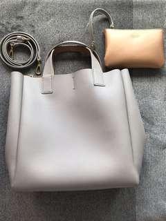 Grey Zara bucket bag