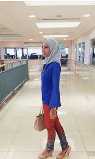 Blue top blouse