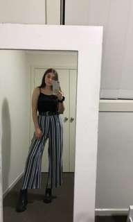 FUNKY stripe coulette pants