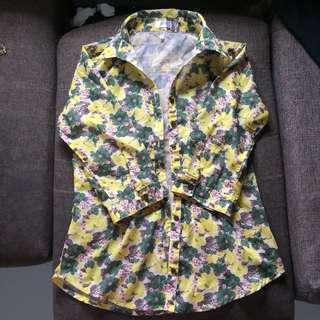 Pazzo floral polo top longsleeves