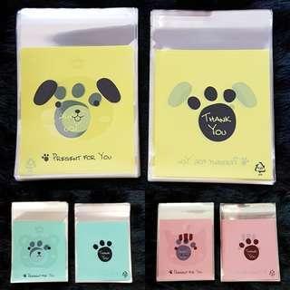 NEW 40pcs Animal Treats Design Self-Adhesive Souvenir Cookie or Candy Plastic Pouch 10cm