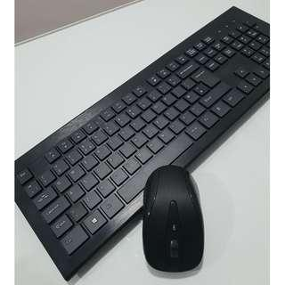 (J44) Wireless Keyboard and Mouse Combo