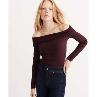Abercrombie Off the Shoulder Ribbed Top