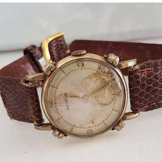 🚚 Old Timepiece, Rare Benrus manual winding wrist watch, Swiss Made, Designer Knot Casing, Benrus Watch Company USA, sub-second hand dial, Vintage Patina, Limited Edition