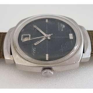🚚 Vintage Timepiece, Rare FORTIS self winding wrist watch, Swiss Made, Skylar Model, Fortis Watch Company, Top of the range with gold back cover, designer casing, automatic movement calibre 2782