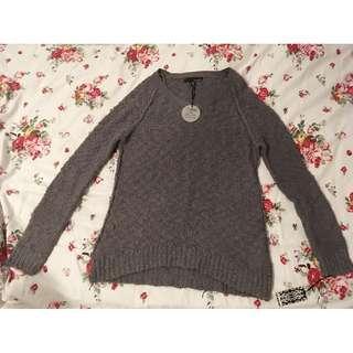 Grey Marled Sweater