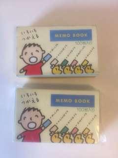 Sanrio vintage 大口仔 memo 1994 一本全新 一本只用兩頁