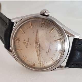 🚚 Vintage Timepiece, Rare OMEGA manual winding wrist watch, Old Patina Dial, Swiss Made, Seamaster Model, Designer Timer, Omega Watch Company, Military grade Movement, Calibre 284