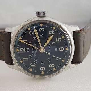 🚚 Vintage Timepiece, Rare Air Force manual winding wrist watch, Swiss Made, 1950's, 1960's Military Model, Military markings, Designer Timer, Military Issued for Korean War, Vietnam War, Limited Edition