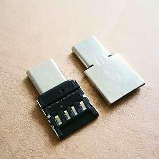 Mini USB-C to USB A adapter