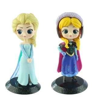 Action figures princess elsa, ana, snow white