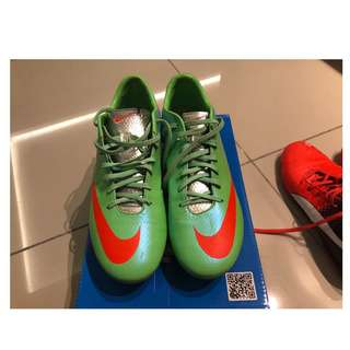 b919fe871 Nike Mercurial Vapor IX Soccer Cleats (Neo Lime Metallic Silver Polarized  Blue