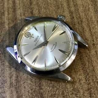 Vintage Tudor Silver 34mm 'Big Rose' 7995