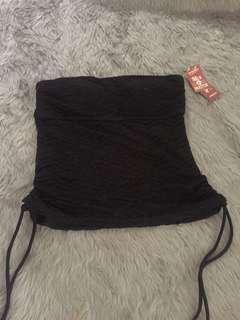 S: ARIZONA, see thru black crochet swimwear top