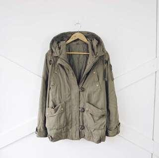 Military Green Jacket for Autumn / Winter
