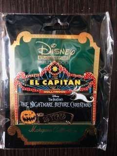 Disney Studio Store Hollywood pins 迪士尼徽章襟章 The Nightmare Before Christmas 25th Anniversary Marquee LE300 disney pin
