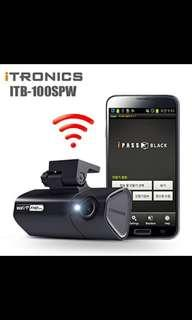 ITRONICS iPass Black ITB-100SPW Smart WiFi FullHD Vehicle Driving Recorder CAR Black BOX. Car Radio And Audio System 1006