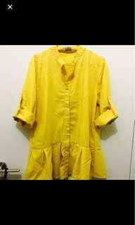 yellow shirt dress bukan zara bershka h&m