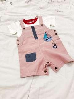 Sailor red set setelan jumper anak