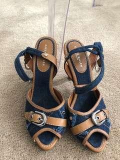 Vintage Karen Millen Denim Heels