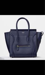Celine Mini Luggage Navy Blue