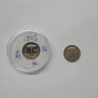 Malaysia 1994 5cent error180%