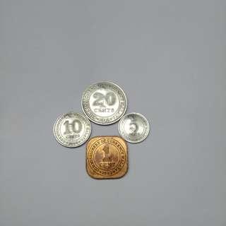 Malaya 1943 (20/10/5/1)cent (大日本)rare
