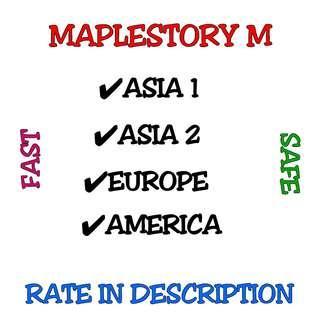 *23 JAN* CHEAP MapleStory M MapleStoryM MapleM Maple M Mesos ASIA 1 / 2 EUROPE AMERICA Scania Zenith Luna Croa Union Inosys Elysium [ ALL SERVERS ]