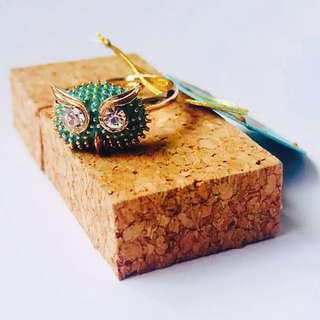 Turquoise Owl Ring 🦉- Product of Czech Republic 🇨🇿