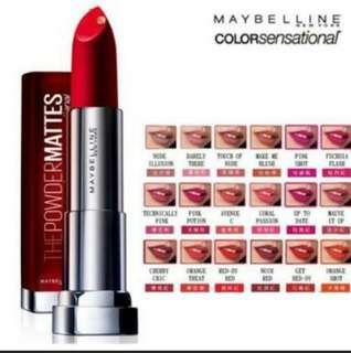 Maybelline Color Sensational Powder Matte lipstick Make me blush 03