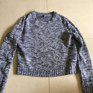 H&M Knitted Blue Top