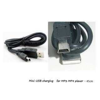 45cm long USB 2.0 Mini adapter for ONLY Charging of MP3 players Power Banks etc