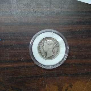 Victoria Queen straits settlements 20cent (year1889)