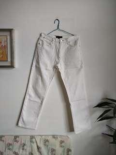 白色牛仔褲 white jeans