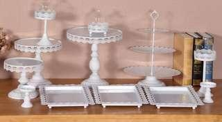 Sweet buffet trays, holders, accessories, cake holder for rent