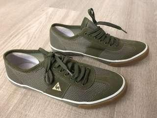 Agnes b x Lecoq Sportif sneakers in military green sized 38