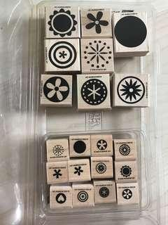 Stampin' up retired stamp set - big pieces and small pieces