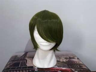 URGENT CLEARANCE Forest Green Male Short Cosplay Wig