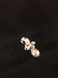 Butterfly pendant with pearl