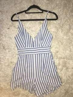 Charcoal body suit size 8