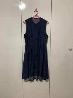 Hush Puppies High Low Babydoll Denim Dress