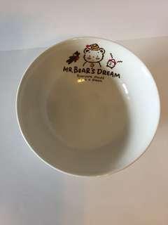 Sanrio vintage Mr Bear's Dream Club Fancy Friends 陶瓷 碗 1986